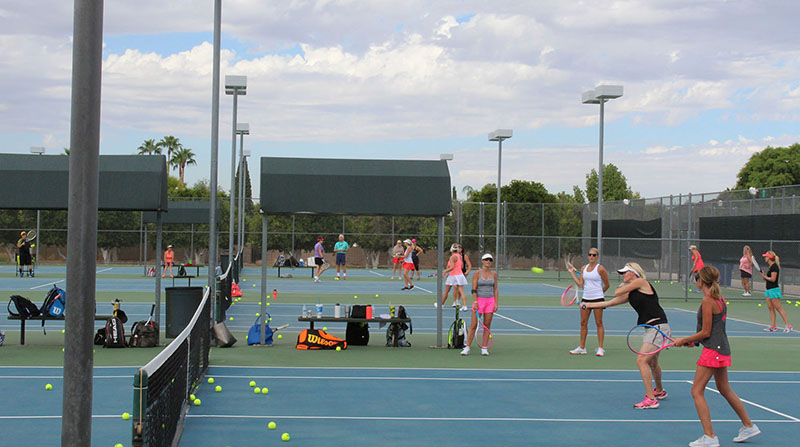 city of mesa tennis center at gene autry park players on court