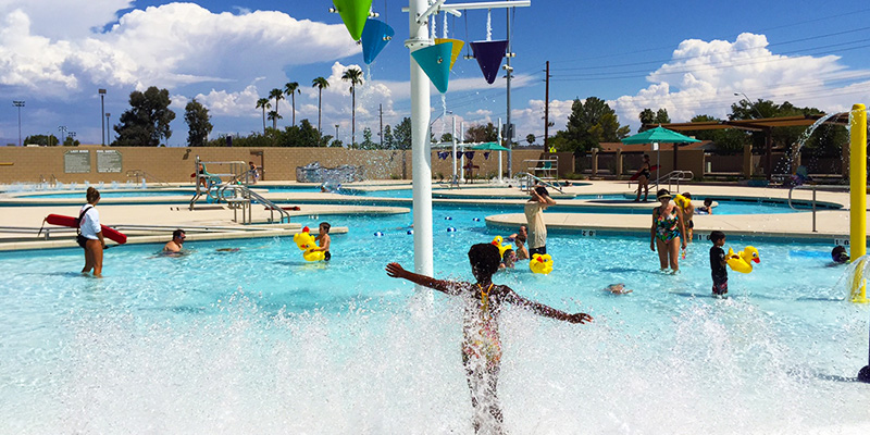 Mesa Aquatic Center Water Feature