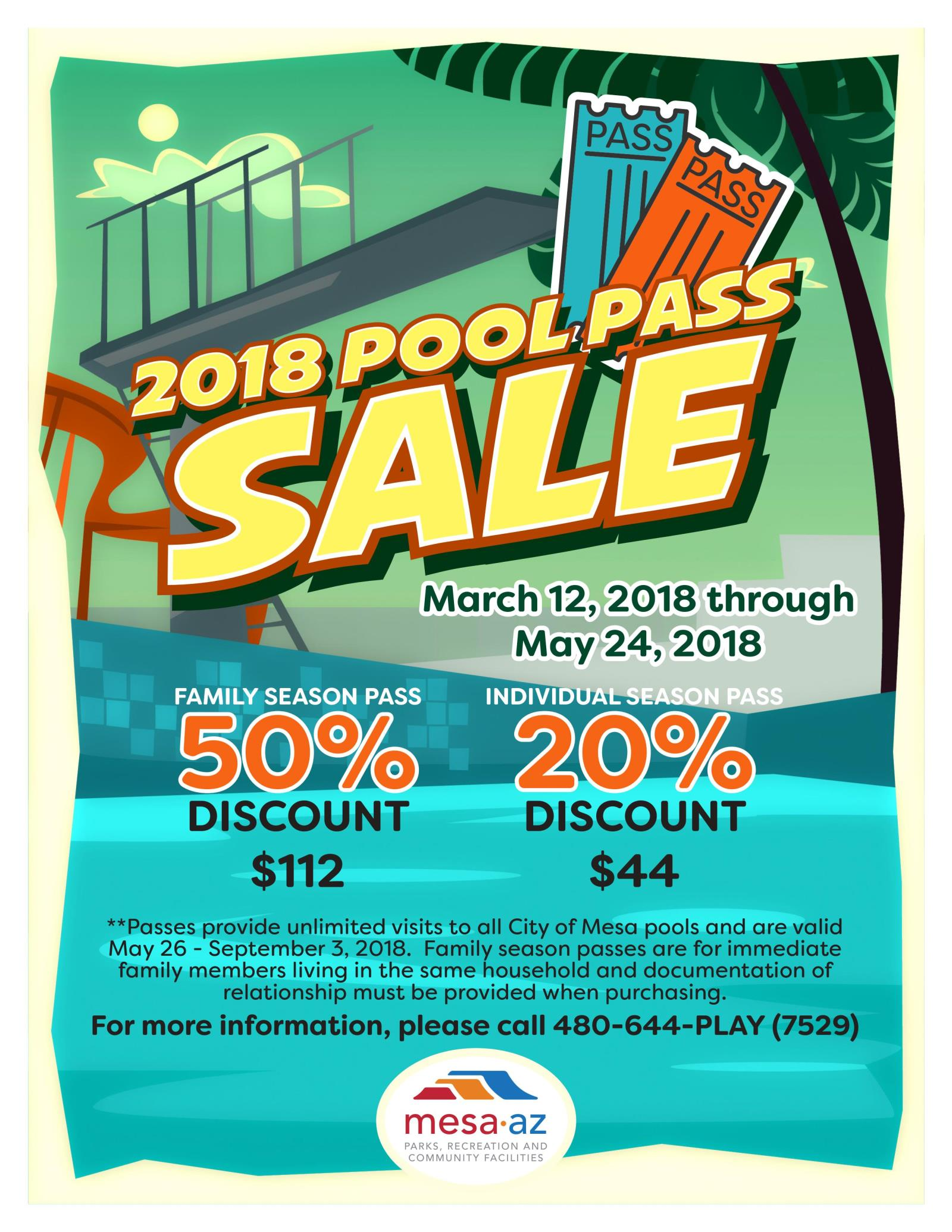 pool pass sale flyer
