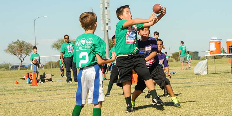 Mesa Youth Sports Kids Playing Flag Football