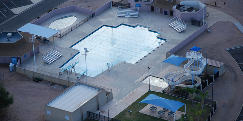 Fremont Pool Aerial View