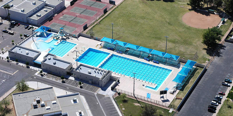 Kino Pool Aerial View
