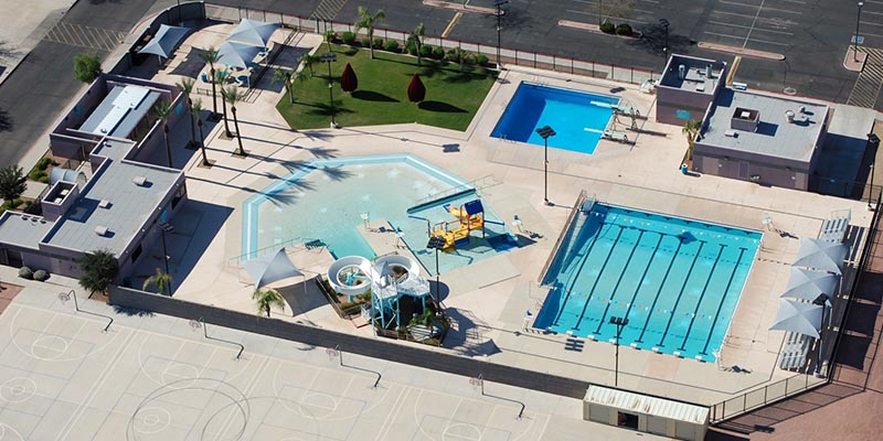 Stapley Pool Aerial View
