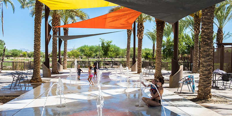 Eastmark Great Park Splash Pad Kids and Adult