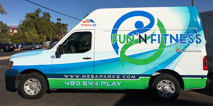 Mesa Parks and Recreation Fun N Fitness Mobile Recreation Unit Van