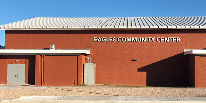 Eagles Community Center Front of Building