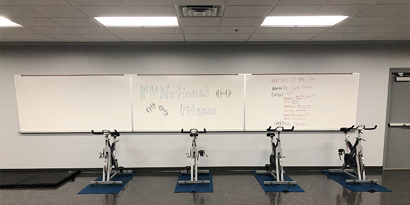 Eagles Community Center Exercise Bikes