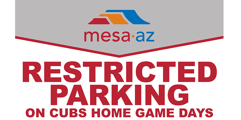 Restricted Parking Cubs Home Game