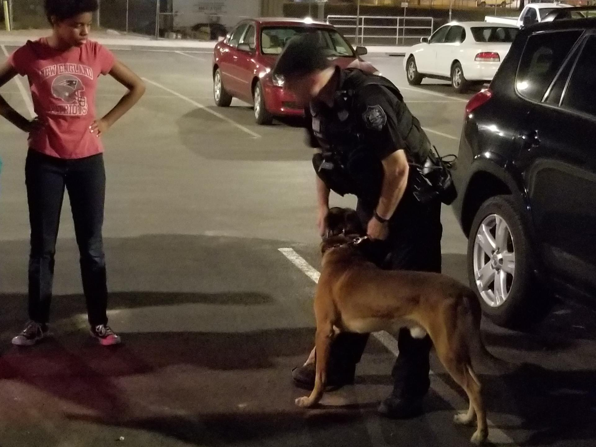 Mesa Police Department K9 Unit visited the Teen PLAE program at Eagles Community Center