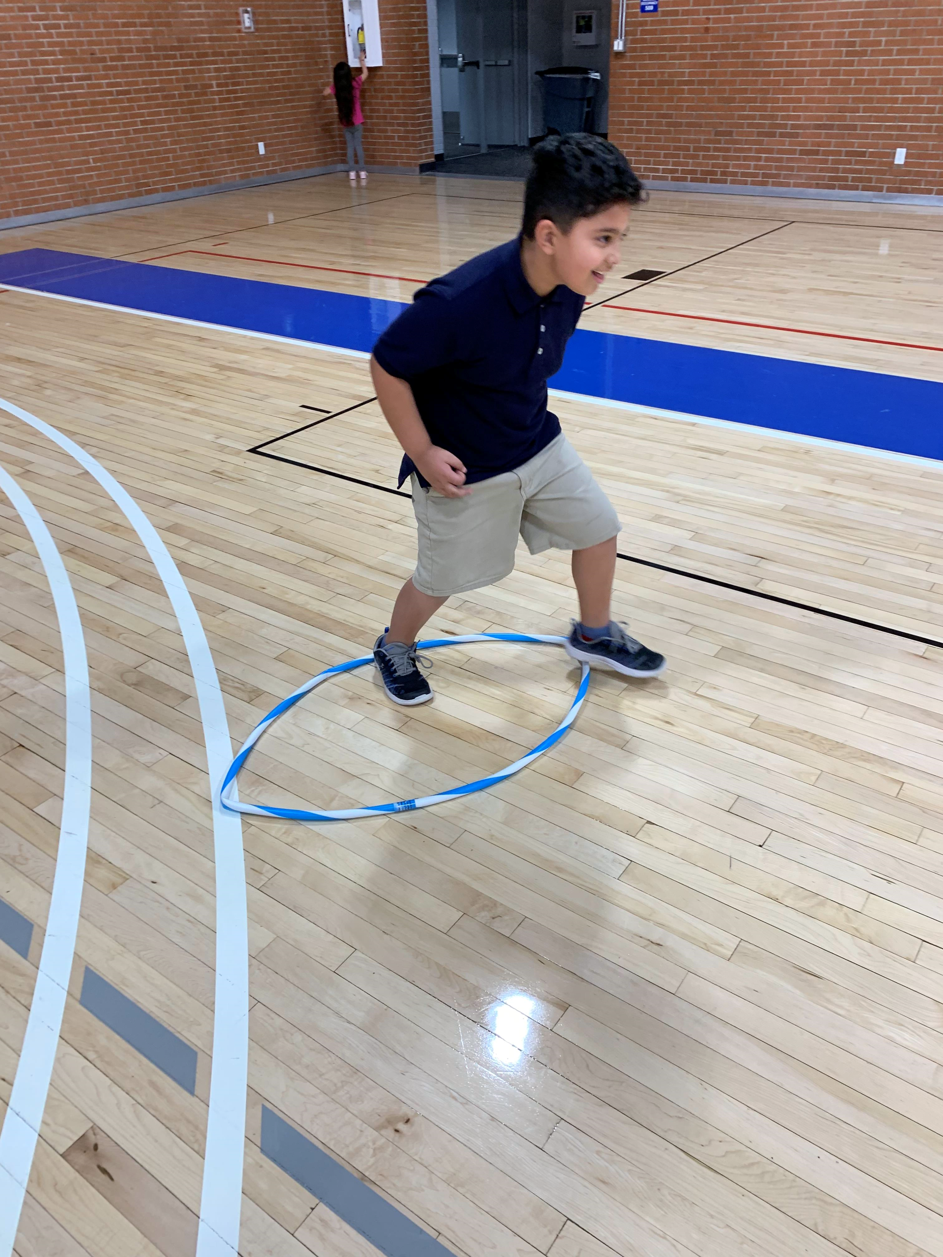 Eagles Community Center Gym Hula Hoop Fun