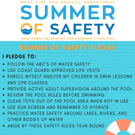 Summer of Safety Pledge City of Mesa