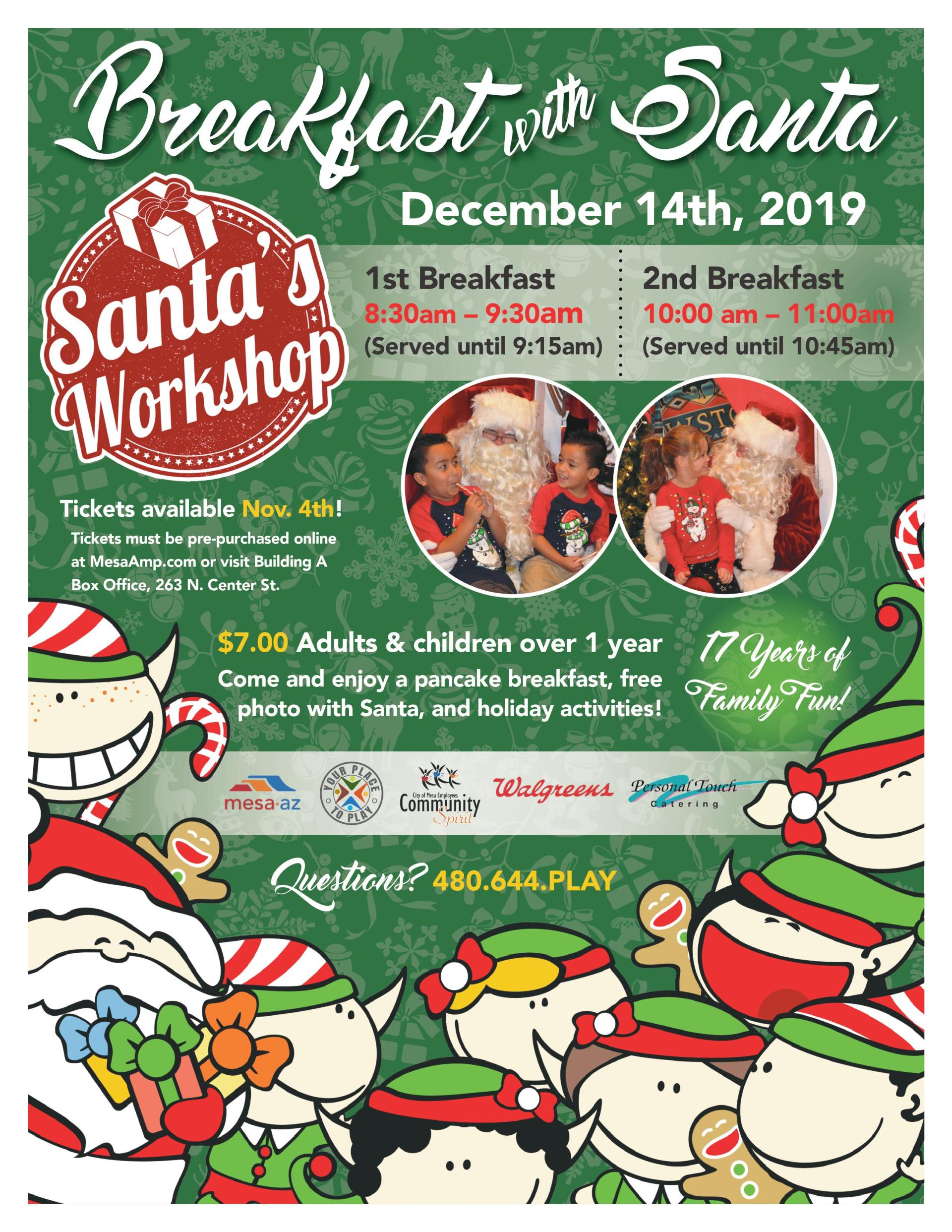 breakfast with santa city of mesa event 2019