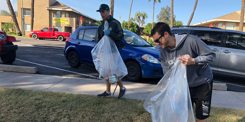 Volunteers City of Mesa Parks and Recreation Park Clean Up